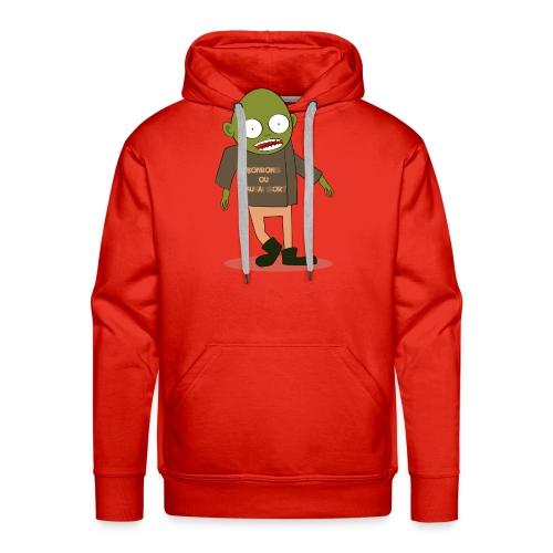Zombie gourmand - Sweat-shirt à capuche Premium pour hommes