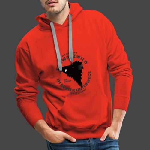 Schwarzwild im Revier-Shirt für Sauenjäger - Männer Premium Hoodie