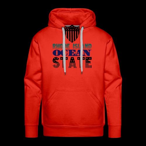 rhode island ocean state - Men's Premium Hoodie