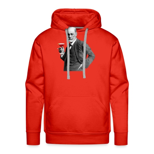 Sigmund Freud mit Cocktail - Männer Premium Hoodie