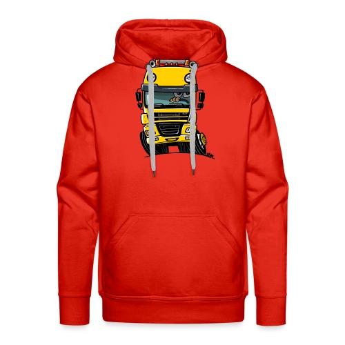 0810 D truck CF geel - Mannen Premium hoodie