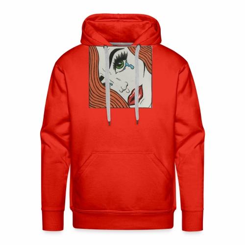 POP Art Lady-close up - Men's Premium Hoodie