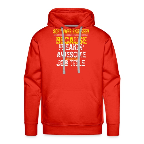 freakin' awesome software engineer - Men's Premium Hoodie