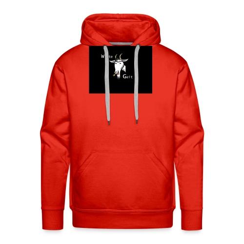 witte geit - Mannen Premium hoodie