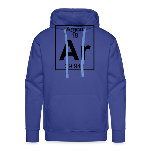Argon (Ar) (element 18) - Men's Premium Hoodie