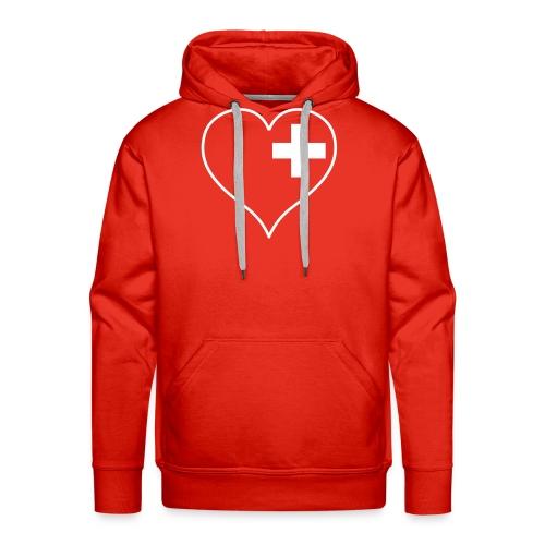 swiss heart white - Männer Premium Hoodie