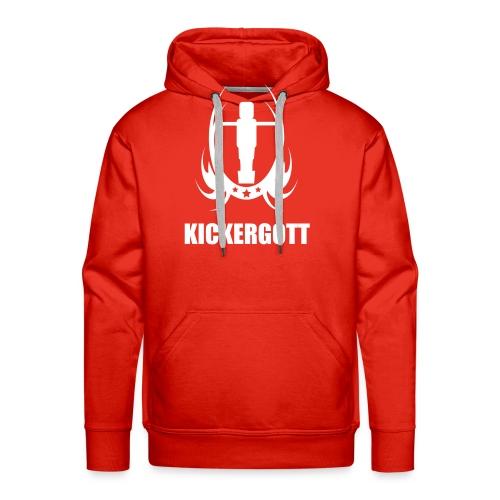Tischfussball kickergott - Männer Premium Hoodie