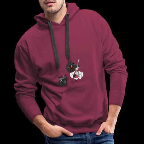 logo guitar - Sweat-shirt à capuche Premium pour hommes