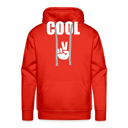 Cool with Peace Sign - Men's Premium Hoodie