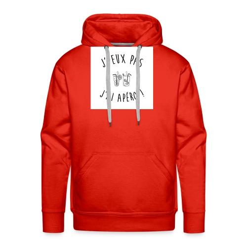 Jpeux pas apero - Sweat-shirt à capuche Premium pour hommes