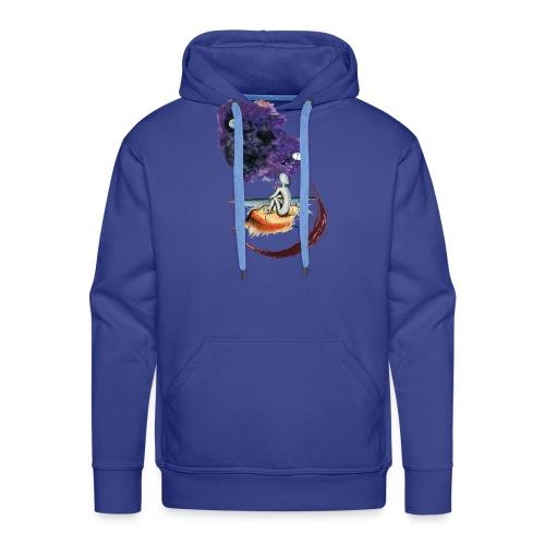 Extraterrestre en contemplation - Sweat-shirt à capuche Premium pour hommes