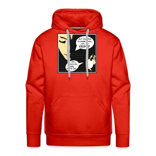 """I'm Vegan, That's Ok babe"" - Pop Art Cartoon Edit - Männer Premium Hoodie"