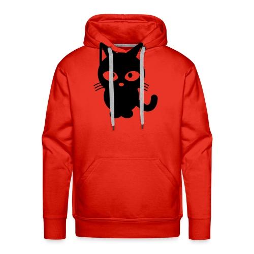 Styled Black Cat - Sweat-shirt à capuche Premium pour hommes