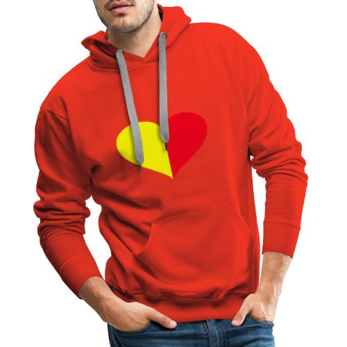 cuore giallorosso - Felpa con cappuccio premium da uomo