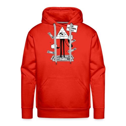 We Control You - Conspiration Design - Sweat-shirt à capuche Premium pour hommes