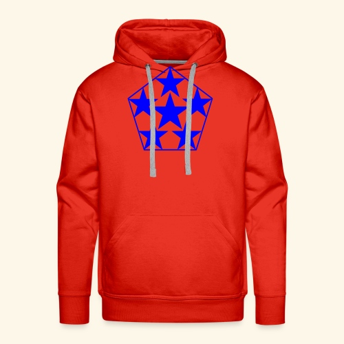 5 STAR Sterne blau - Männer Premium Hoodie