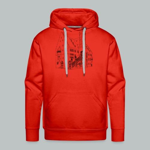 Nördlingen T-Shirt Rathaus schwarz - Männer Premium Hoodie
