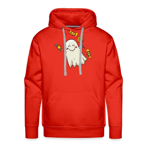 little cute ghost carrying candy - Sweat-shirt à capuche Premium pour hommes