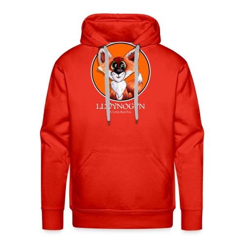 llwynogyn - a little red fox (white) - Herre Premium hættetrøje