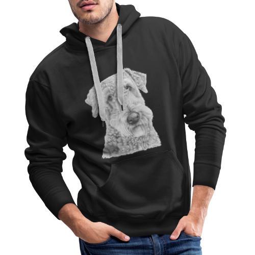 airedale terrier - Herre Premium hættetrøje