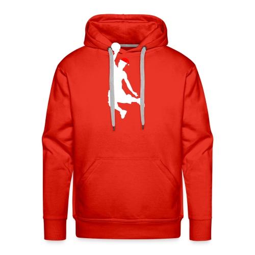 Basketball Player Silouette - Men's Premium Hoodie
