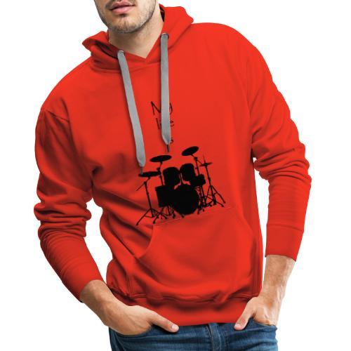 mylifeisdrums - Sweat-shirt à capuche Premium pour hommes