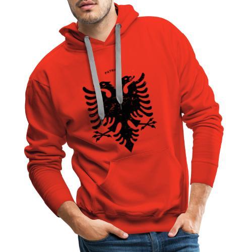 Albanischer Adler im Vintage Look - Patrioti - Männer Premium Hoodie