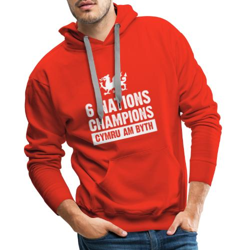 Wales Six Nations Rugby Champions - Men's Premium Hoodie