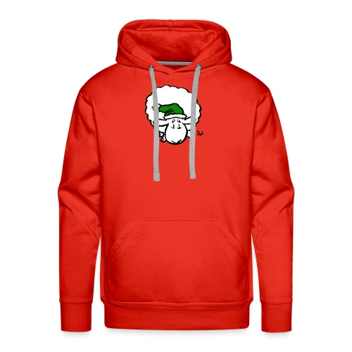 Santa Sheep (green) - Men's Premium Hoodie