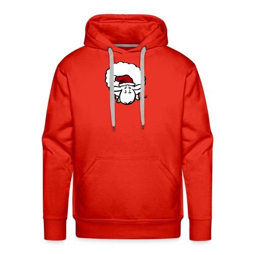 Santa Sheep (red) - Men's Premium Hoodie