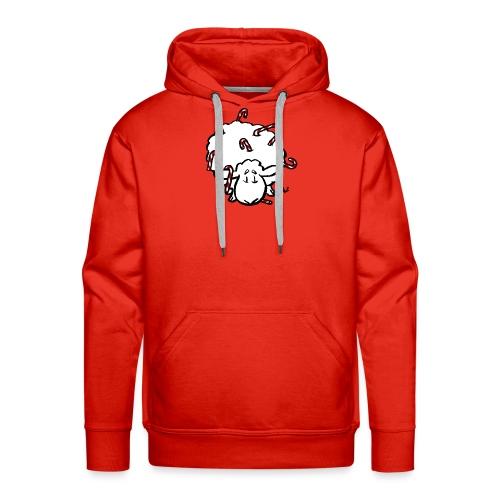 Candy Cane Sheep - Men's Premium Hoodie