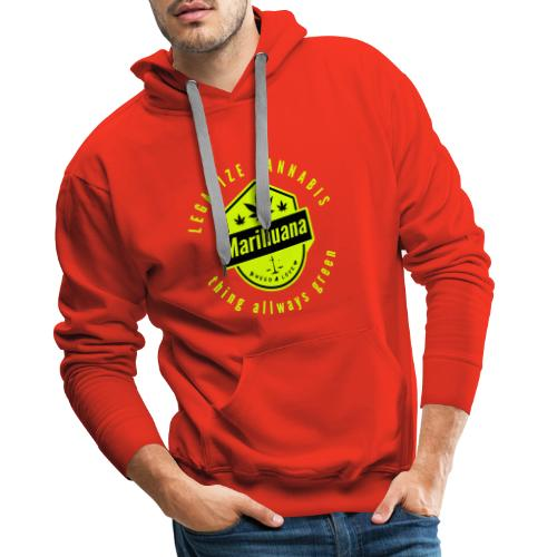 Legalize Cannabis Smoke Weed - Colors Changeable - Men's Premium Hoodie