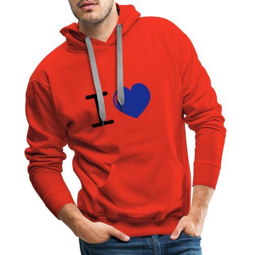 i love heart - Mannen Premium hoodie
