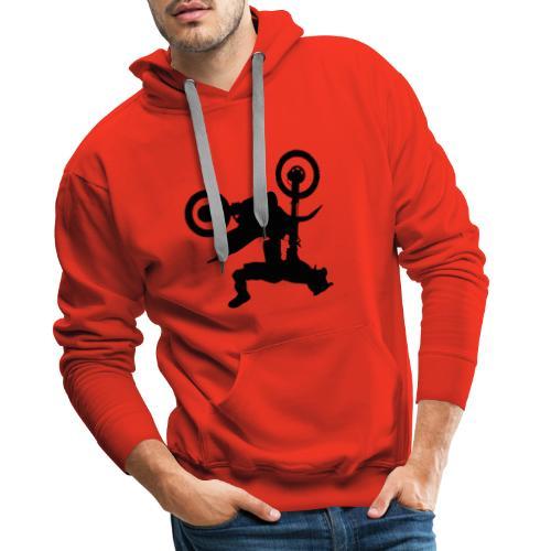 Cool salto cross bike design - Mannen Premium hoodie