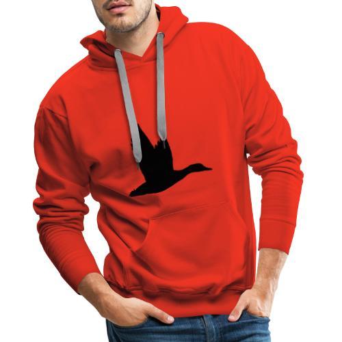 T-shirt canard personnalisé avec votre texte - Sweat-shirt à capuche Premium pour hommes