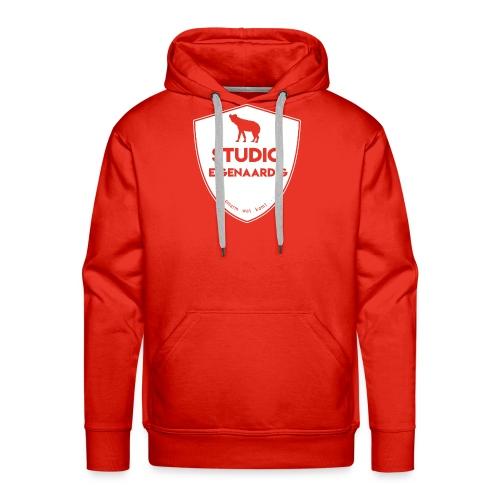 wit logo - Mannen Premium hoodie