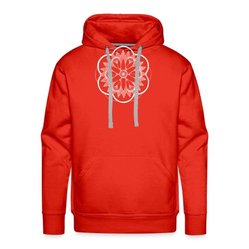 White Pond Bouquet Mandala - Men's Premium Hoodie