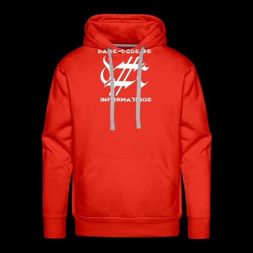 Dark-Code Gothic Logo - Sweat-shirt à capuche Premium pour hommes