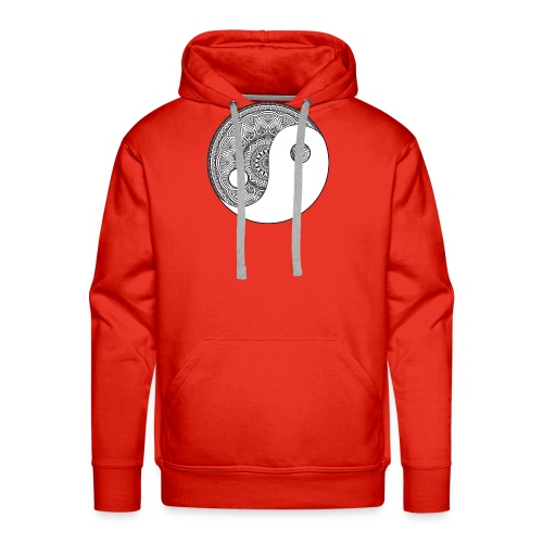ying yang - Sweat-shirt à capuche Premium pour hommes