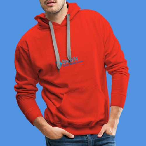 abstract sporty - Felpa con cappuccio premium da uomo