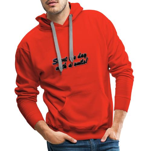 Start the day with a smile - Men's Premium Hoodie