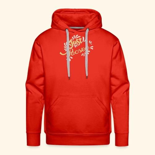 just pacsed - Sweat-shirt à capuche Premium pour hommes