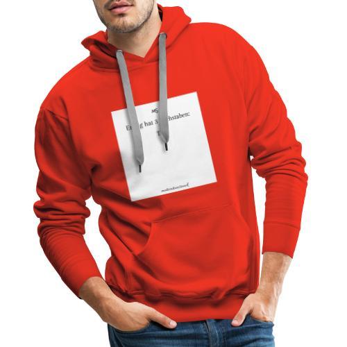 Erfolg hat 3 Buchstaben - Männer Premium Hoodie