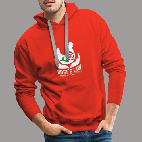 Roses Law Animal Bill of Rights Belgium - Mannen Premium hoodie