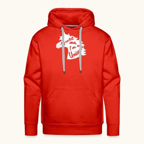 Cadeau de licorne rigolo disant calligraphie blanche - Sweat-shirt à capuche Premium pour hommes