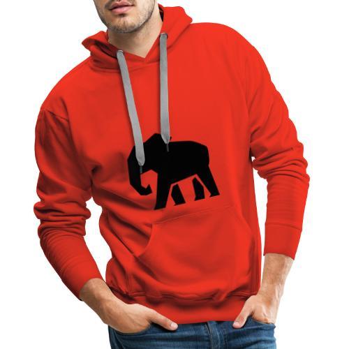 Schwarzer Elefant - Männer Premium Hoodie