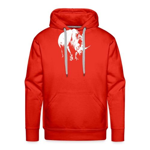 White Rhinoceros (highlights only) - Men's Premium Hoodie