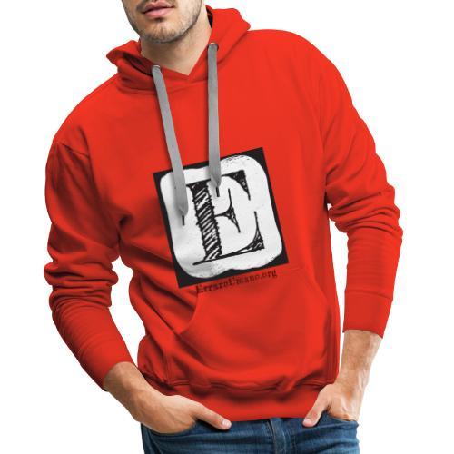 Logo ErrareUmano (scritta nera) - Felpa con cappuccio premium da uomo