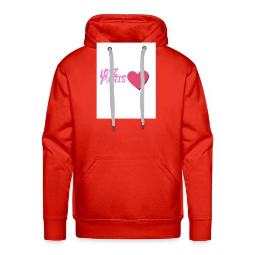love paris rose - Sweat-shirt à capuche Premium pour hommes