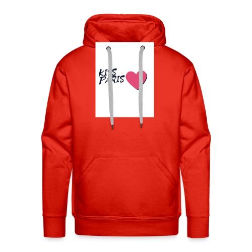 kiss paris - Sweat-shirt à capuche Premium pour hommes